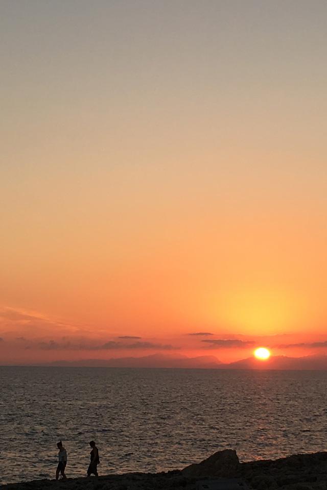Tramonto sull'isola di Maiorca