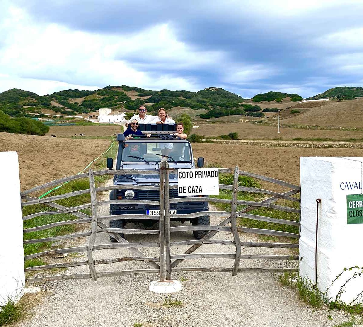 Jeep safari tour Minorca